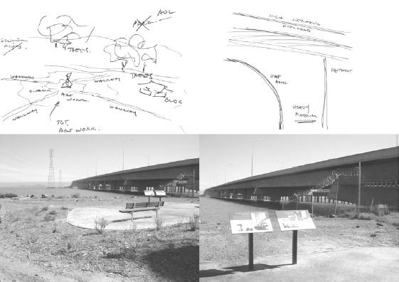"""Fig. 3 : jardin, petit espace, Work of Art et """"un haut surplomb au-dessus de la tête"""" (""""High Overhang Overhead"""")"""