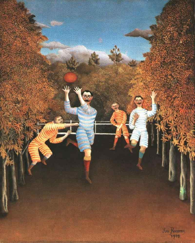 Figure 13. Les joueurs de football. Henri Rousseau, 1908. Musée Guggenheim, New York.