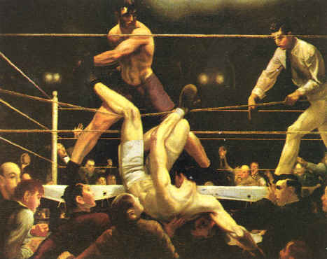 Figure 14. Dempsey et Firpo, 1924, Georges Bellows. Huile sur toile, 130 x 200 cm env., Whitney Museum of American Art, New York.