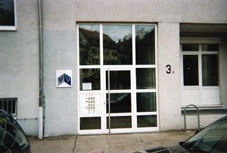 Entrée de l'actuel IGPP au 3A Wilhelmstrasse, Freiburg